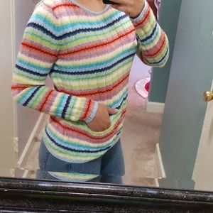 Multicolored striped long sleeve shirt